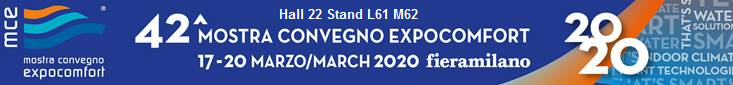 MCE 2020 exhibition in Milan in Hall 22 – Stand L61 M62